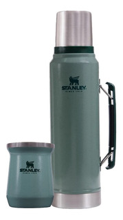 Termo Stanley Clasico 1 Lt + Mate Acero Inoxidable Rex