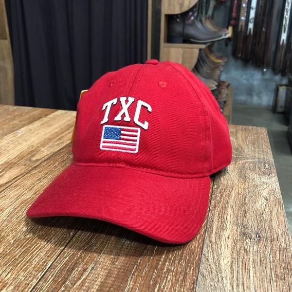 Boné Txc Brand Trucker Original Vermelho Bandeira Eua