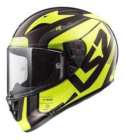 Capacete Ls2 Ff323 Arrow C Sting Verm/amarelo Fibra Carbono