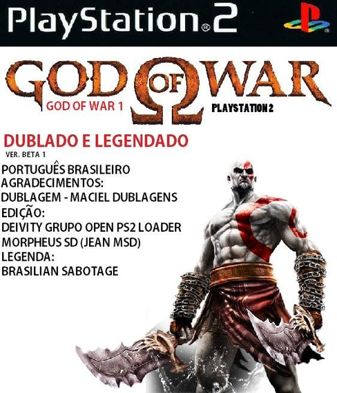 Patch God Of War 1 Dublado Ps2