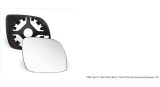 Lente Espelho Retrovisor Direito Pequeno Vw Gol Bola Special, G3, Special, City, G4 City 2p, 4p 1999/2009 - 7010