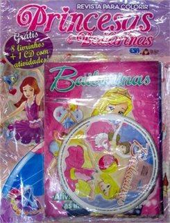 Revista Para Colorir: Princesas E Bailarin Entrega Garantida