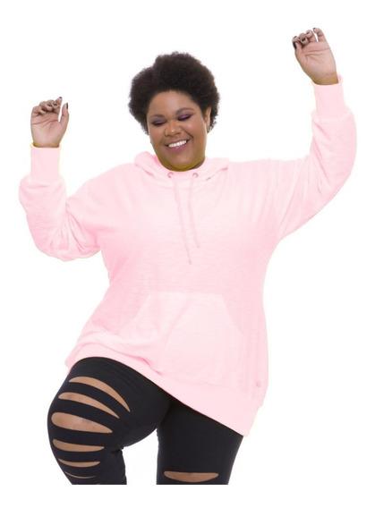 Pré Venda Blusão Moletinho Plus Wonder Size Rosa Neon