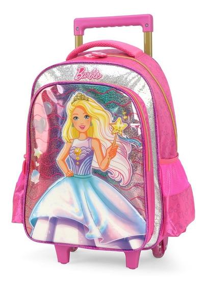 Mochila Rodinha Barbie - 34422 Original - Luxcel