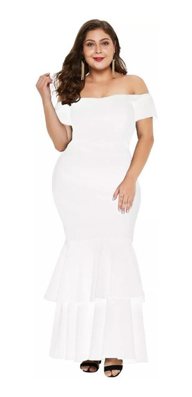 Hermoso Vestido Plus Size Mujer Fiesta Tallas Extras Full
