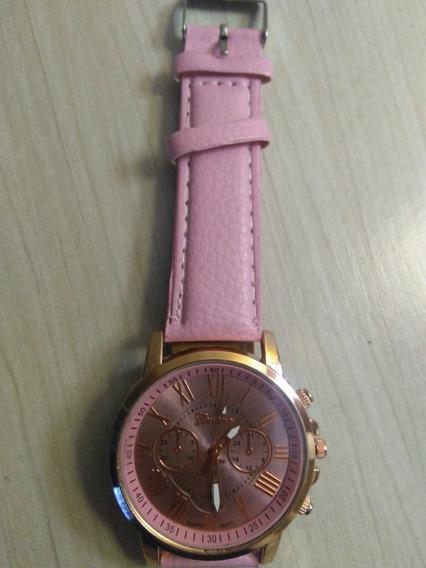 Relógio Feminino Rosa Moda Feminina Mulher Acessório.