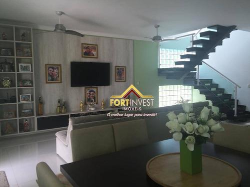 Sobrado Com 5 Dormitórios À Venda, 279 M² Por R$ 1.500.000,00 - Solemar - Praia Grande/sp - So0154