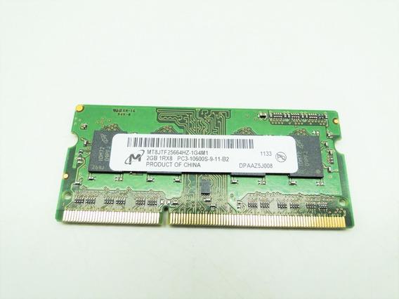 Memória Ddr3 2gb Mt8jtf25664hz-1g4m1 1rx8 Pc3-10600s-9-11-b1