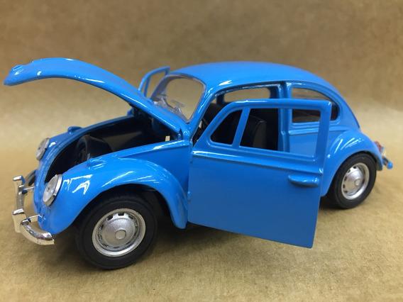 Miniatura Fusca 1967 Cor Azul Abre Capô