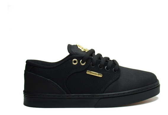 Tênis Hocks Montreal Black/gold Preto E Dourado - Original
