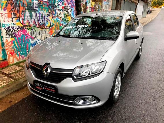 Renault Logan 1.6 Dynamique Completo 2015 Bom Para Uber