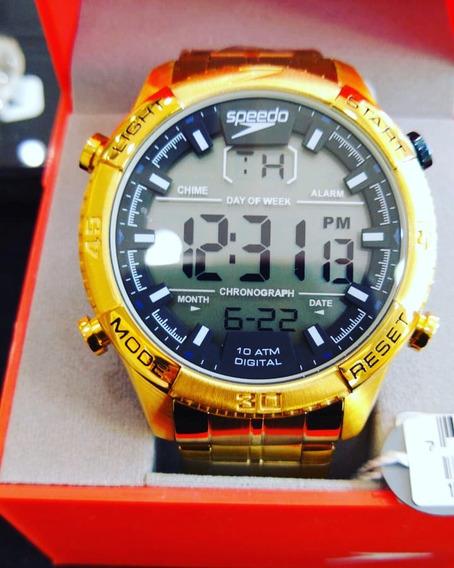 Relógio Speedo Digital Dourado