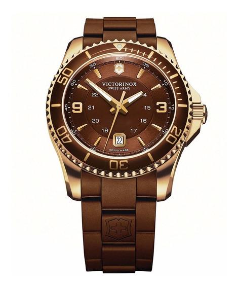 Reloj Victorinox Maverick Gs Suizo Marrón 241608 Oficial