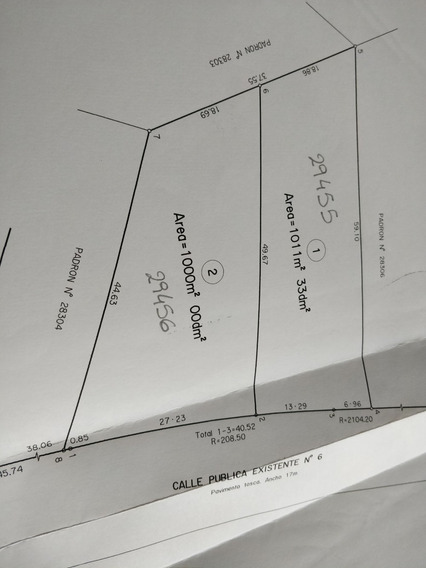 Oportunidad - Terreno Chacras Del Pinar 1000 Mts2