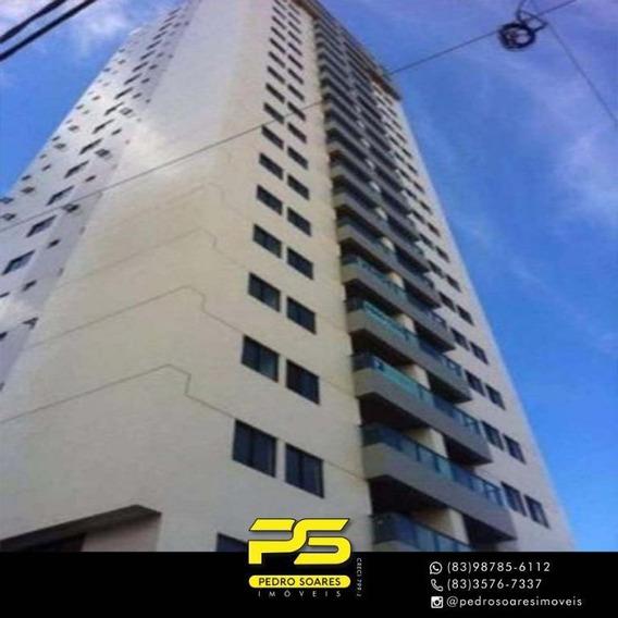 ( M O B I L I A D O ) Apartamento Com 3 Dormitórios À Venda, 97 M² Por R$ 530.000 - Manaíra - João Pessoa/pb - Ap3270