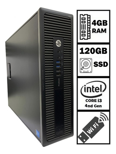 Imagem 1 de 4 de Computador Cpu Pc Hp Prodesk Intel Core I3 + 4gb + Ssd 120gb