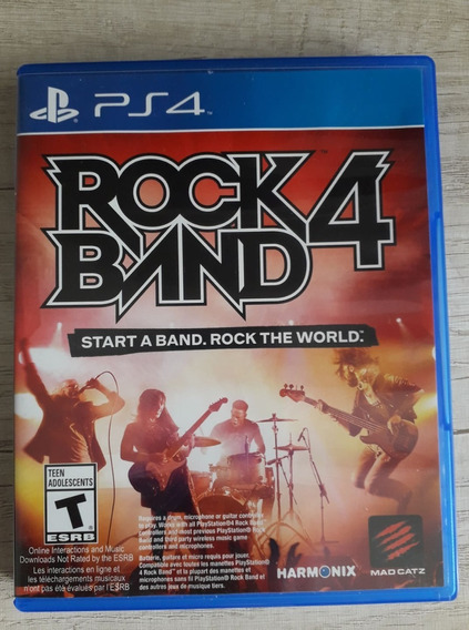 ( Frete R$ 9.90 ) Rockband 4 Rock Band Ps4 Midia Física Cd
