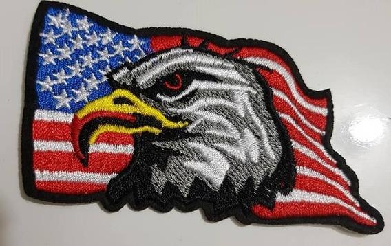 Patch Bordado Águia Bandeira Eua 9.3 Cm