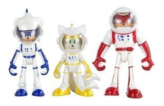 Sonic Boom Set De 3 Muñecos Articulados Con Cartas Orig Tomy