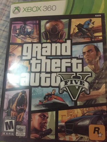 Grand Theft Auto V Gta 5 Juego Cinta Cd De Xbox 360
