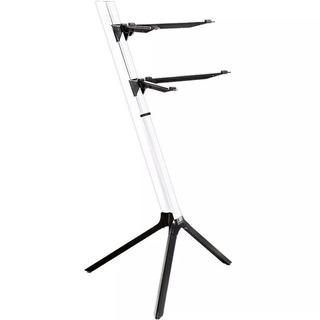 Suporte 2 Teclado Stay Slim 1100/2 Aluminio Branco C/ Bag