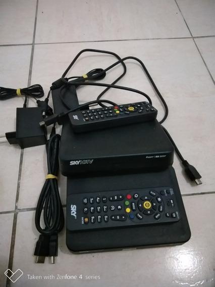 Antena Com Dois Receptor Da Sky Pré Pago