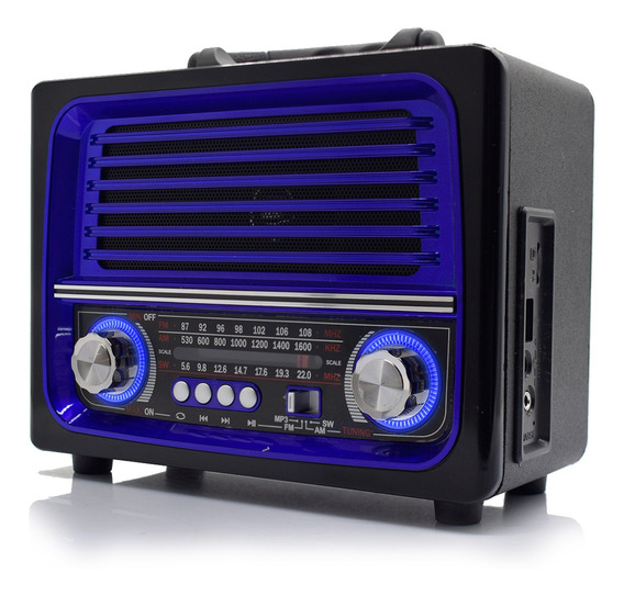 Caixa Som Bluetooth Retrô Vintage Rádio Am Fm Sw Mp3 Usb Aux