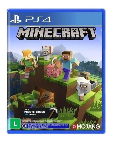 Jogo Minecraft Ps4 Mídia Física Lacrado