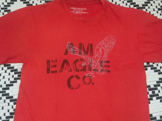 Remera American Eagle Talle L Largo 71 Cm Axila 57 Cm Rojo