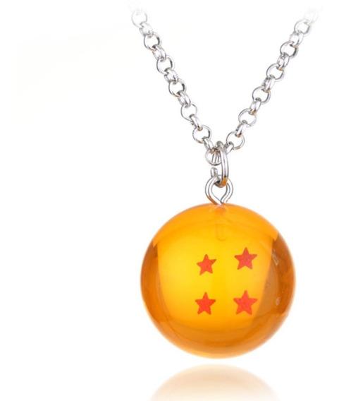 Colar Cordão Dragon Ball Z Goku Esfera Do Dragão 4 Estrelas