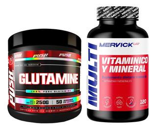 Vitaminas Minerales Glutamina Complejo B Zinc Magnesio Combo