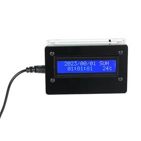 12d8ecb8b356 1602 Lcd Diy Kit De Reloj Digital Con La Caja De Acr lico