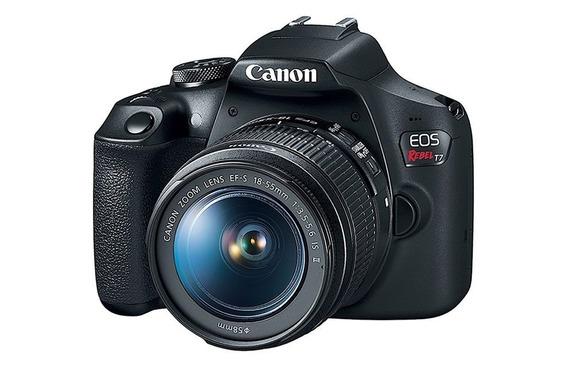 Canon Eos Rebel T7 18-55mm F/3.5-6.3 Is Il 12x S/ Juros