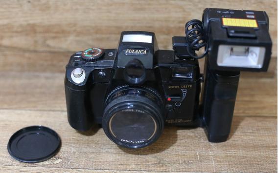 Câmera Fulaica Motor Drive + Flash
