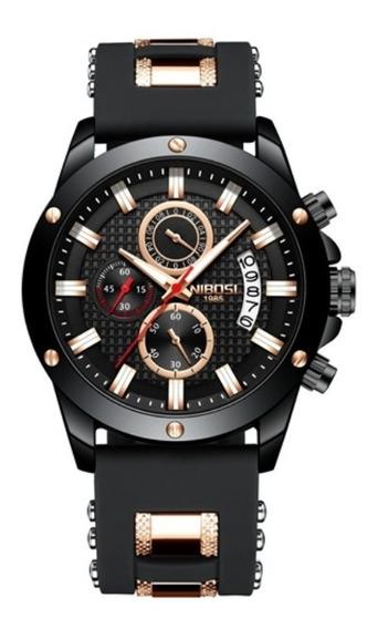 Relógio Original Masculino Luxo Nibosi Esportivo Funcional