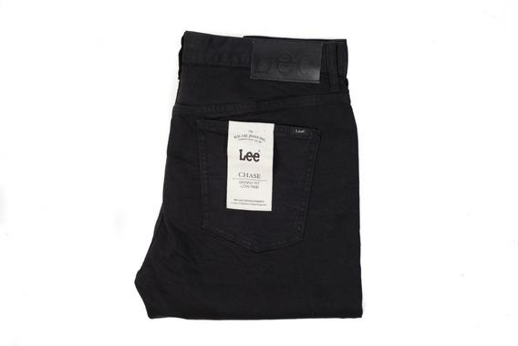 Jeans Hombre Lee Chase I Skinny Fit Pantalón Tiro Bajo Negro