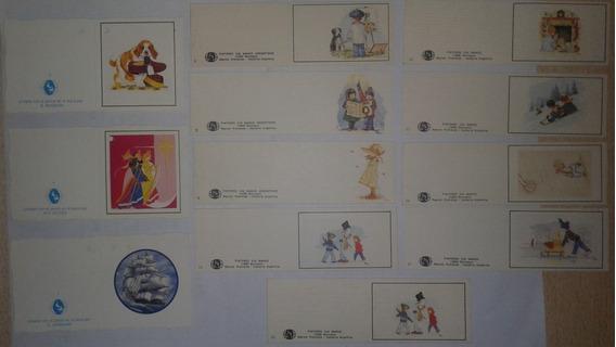 Lote De 12 Mini Tarjetas Antiguas De Pintores Sin Manos