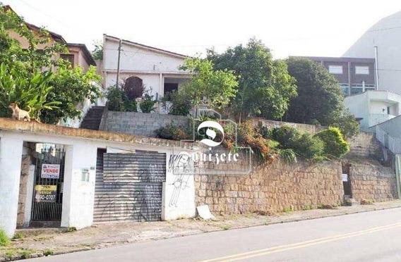 Terreno À Venda, 298 M² Por R$ 598.000,00 - Campestre - Santo André/sp - Te0006