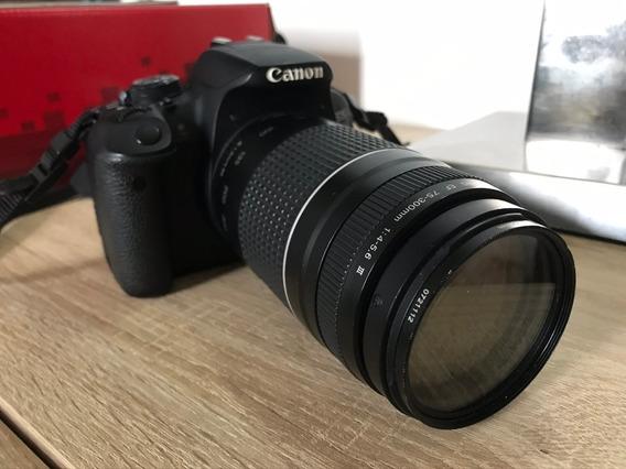 Canon Eos Rebel T5i Lente Zoom Ef 75-300mm 1:4-5.6 Iii