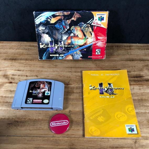 Killer Instinct Gold Playtronic Na Caixa P/ Nintendo 64 N64