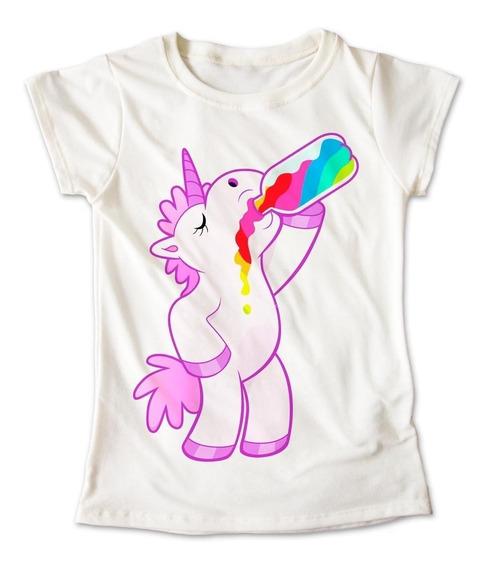 Blusa Unicornio Colores Botella Playera Estampado 084