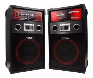Parlantes Noganet Karaoke Usb Micro Sd Mic Rca + Potente Ultimo Modelo