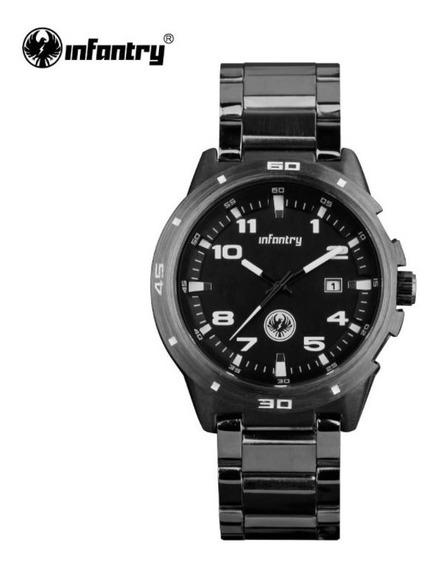 Relógio De Pulso Luxuoso Masculino Infantry Aço Promoção