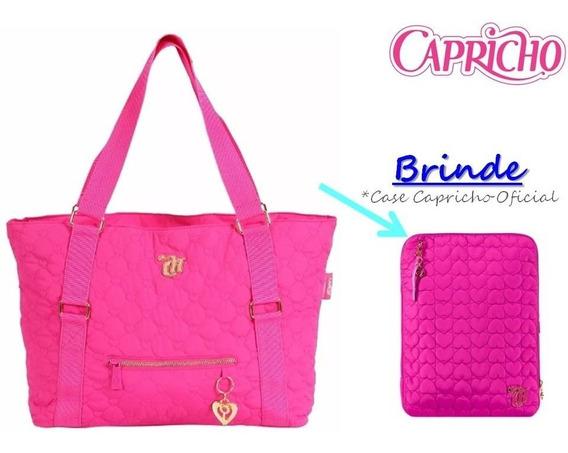 Bolsa Tote Capricho Love Vii Pink Original Dmw + Brinde