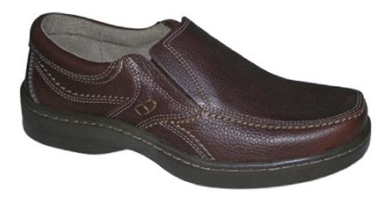 Zapatos Hombre Xl 49 Cuero Comfort Goma Febo 5249