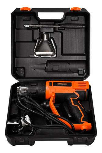 Imagen 1 de 8 de Pistola De Calor Eléctrica 2000w 2 Temperaturas + Accesorios
