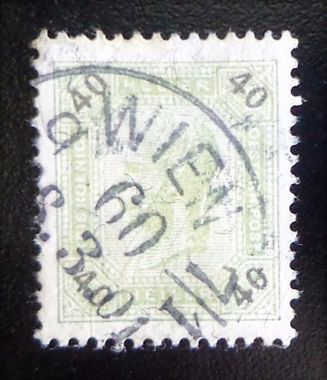 Austria, Sello Yv. 74 40 H Dent 13 1899 Usado L10398