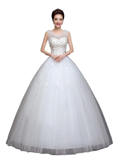 Vestidos De Novia Corte Princesa Encaje Flores Barato