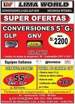 Conversiones A Gas Gnv Glp Super Ofertas!!!