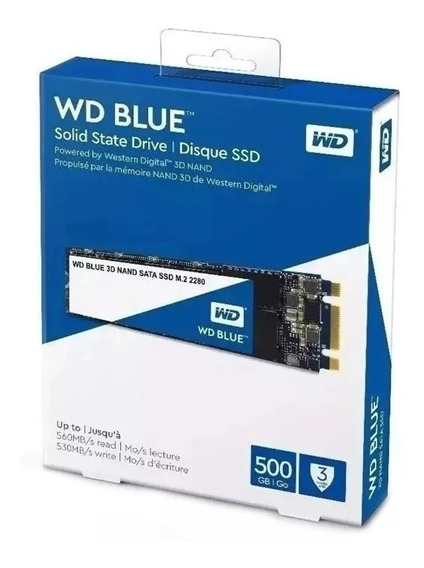 Ssd Wd Blue M.2 2280 500gb Notebook Solid State Drive Wester